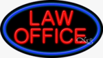 Law Office Oval Neon Sign