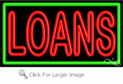 Loans Business Neon Sign