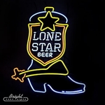 Lone Star Boot Neon Beer Sign