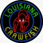 Louisiana Crawfish LED Sign