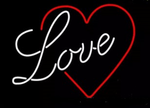 Love & Heart Neon Sign