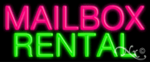 Mailbox Rental Economic Neon Sign