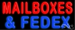 Mailboxes Fedex Neon Sign