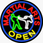 Martial Arts Circle Shape Neon Sign