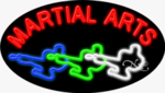 Martial Arts2 Oval Neon Sign