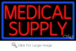 Medical Supply Business Neon Sign