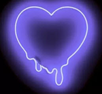 Melted Purple Heart Neon Sign