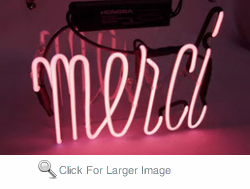 Merci Neon Sign