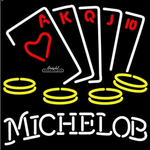 Michelob Poker Aces Neon Sign