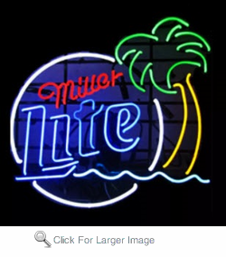 Miller Palm Tree Neon Sign