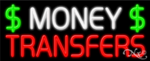 Money Transfers Business Neon Sign