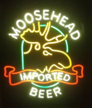 Moosehead Moose Imported Neon Sign