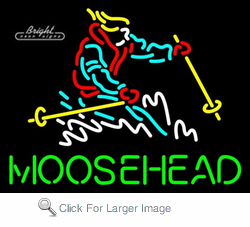 Moosehead Skier Neon Sign