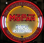 Mopar Neon Sign in Metal Can