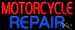 Motorcycle Repair Business Neon Sign