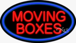 Moving Boxes Oval Neon Sign
