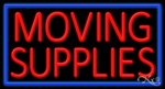 Moving Supplies Business Neon Sign