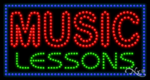 Music Lessons LED Sign