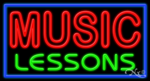 Music Lessons Business Neon Sign