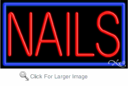 Nails Business Neon Sign