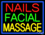 Nails Facial Massage Business Neon Sign