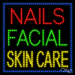 Nails Facial Skin Care LED Sign