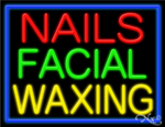 Nails Facial Waxing Business Neon Sign