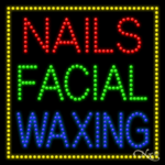 Nails Facial Waxing LED Sign