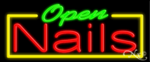 Nails Open Business Neon Sign
