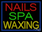 Nails Spa Waxing LED Sign