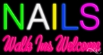 Nails Walk Ins Welcome Neon Sign