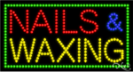 Nails & Waxing LED Sign