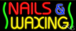 Nails & Waxing Business Neon Sign