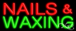 Nails & Waxing Economic Neon Sign