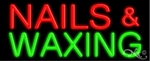 Nails Waxing Neon Sign