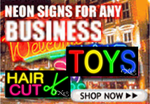 Neon Business Economic Signs