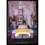 New York Taxi Cab Neon & LED Picture