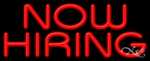 Now Hiring Business Neon Sign