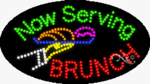 Now Serving Brunch LED Sign