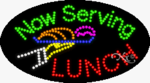 Now Serving Lunch LED Sign