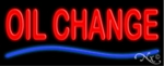 Oil Change Neon Sign
