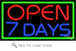 Open 7 Days Business Neon Sign