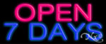 Open 7 Days Economic Neon Sign