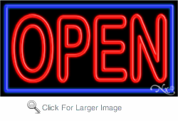 Open Business Neon Sign