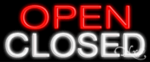 Open Closed Economic Neon Sign