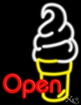 Open Ice Cream Neon Sign