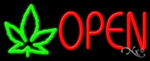 Open Leaf Logo Business Neon Sign