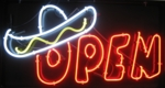 Open Sombrero Neon Sign