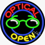 Optical Circle Shape Neon Sign