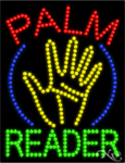 Palm Reader LED Sign